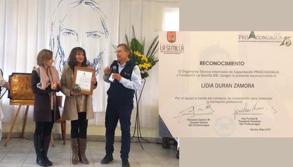 Reconocimiento por segundo año consecutivo de la coordinadora de la carrera TNS en Agrícola Campus Quillota