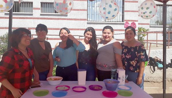 Feria Saludable 2do Semestre Alumnas TNS en Educación Parvularia con Especialidad en Estrategias Curriculares 1er Ciclo Básico Sección 2