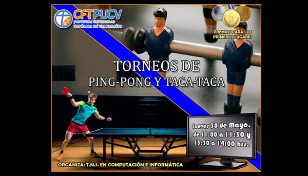 Torneos de Ping-Pong y Taca-Taca / 30 Mayo / Sede Viña del Mar