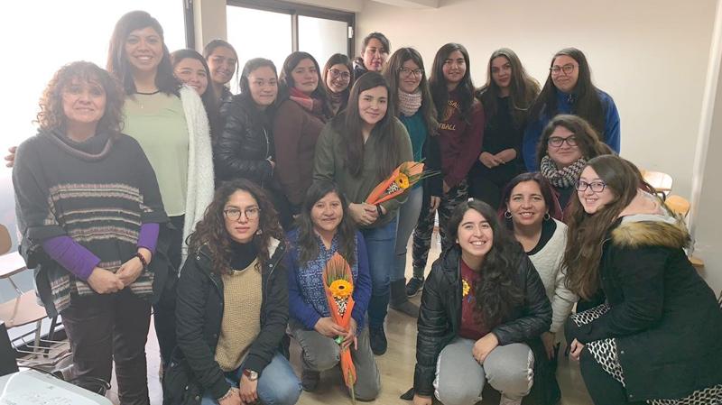 """Charla Cultura Mapuche en el Jardín Infantil """"Brotes Nuevos"""", Viña del Mar para estudiantes 3er semestre diurno TNS en Educación Parvularia Sede La Calera"""