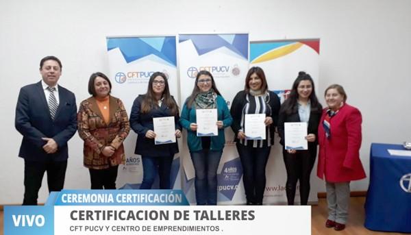"""Ceremonia de """"Certificación de Emprendedores"""" de la Comuna de La Calera"""