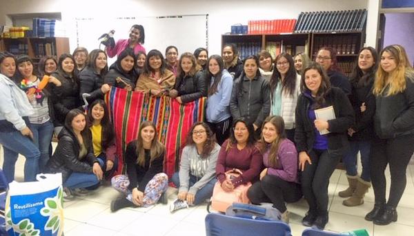 Actividad cultural con estudiantes TNS en Educación Parvularia Campus Limache Cuentos, Mitos y Leyendas Aymaras
