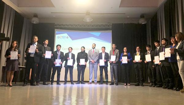 Emotiva ceremonia de entrega de certificaciones a estudiantes de cuarto semestre de la Sede La Ligua