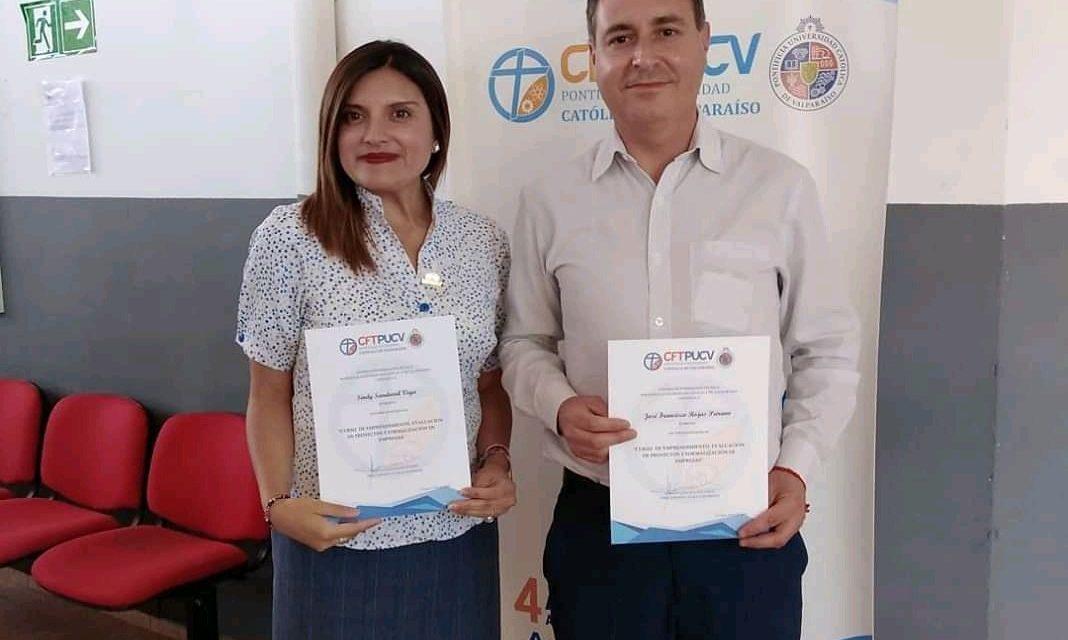 Estudiantes del CFT PUCV Sede La Ligua e integrantes de la comunidad se certificaron en temáticas de Emprendimiento y Alfabetización Digital