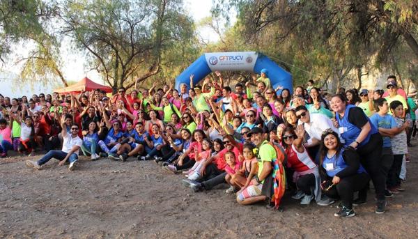 Más de 200 personas fueron parte del Trekking color flúor nocturno realizado en La Calera
