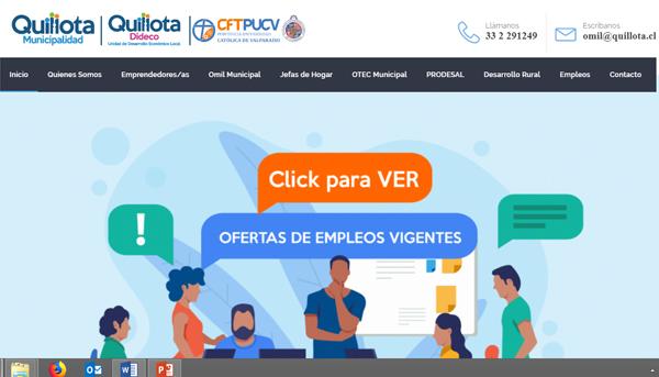 Estudiantes TNS en Computación e Informática de Campus Quillota desarrollan plataforma web municipal para potenciar el emprendimiento local y la obtención de empleo