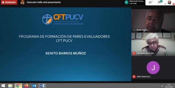 Colaboradores y docentes participan del Curso de Par Evaluador Interno impartido por el CFT PUCV