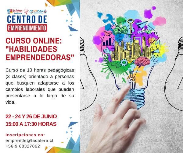 Curso online: Habilidades Emprendedoras / 22, 24 y 26 Junio
