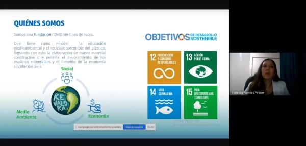 """Fundación REVALORA dictó charla """"Emprendimiento con perspectiva medioambiental"""" para fomentar el reciclaje del plástico"""