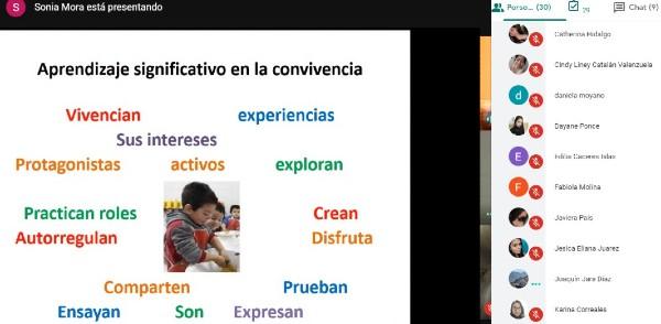 """Estudiantes TNS en Educación Parvularia participan en videoconferencia """"Prácticas Educativas y aprendizaje significativo"""""""