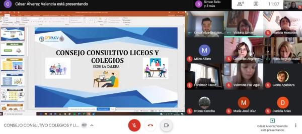 CFT PUCV Sede La Calera realiza Consejo Consultivo con Liceos y Colegios