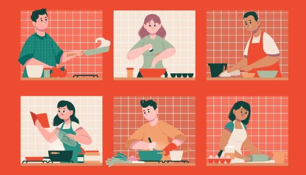TALLER: «Aprende a cocinar desde casa» / viernes 14, 21, 28 agosto y 04 septiembre / martes 18, 25 agosto y 01 septiembre / 17:00 hrs.