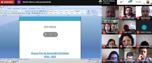 Rectoría expone los avances en el Plan de Desarrollo Estratégico CFT PUCV 2018-2022