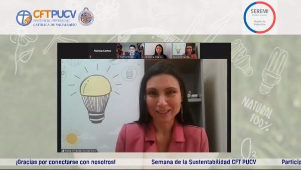 """Seremi de Energía participó en charla junto a Vicerrectora de Desarrollo en el marco de """"Semana de la Sustentabilidad CFT PUCV"""""""