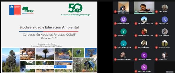 CONAF realiza conversatorio sobre Biodiversidad y Educación Ambiental para comunidad CFT PUCV