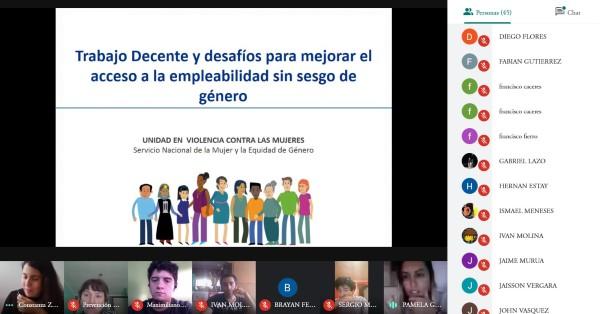 CFT PUCV Sede La Ligua desarrolla conversatorio sobre empleabilidad sin sesgo de género junto a Sernameg