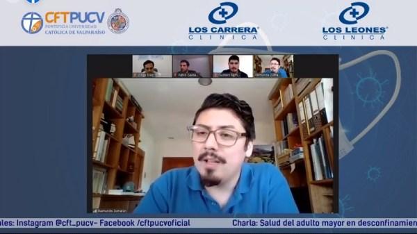 Con panel de especialistas CFT PUCV Campus Limache entregó orientaciones para cuidar la salud del adulto mayor en desconfinamiento
