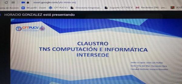 Carrera TNS en Computación e Informática realizó claustro a nivel CFT PUCV para conversar sobre la importancia del proceso de Acreditación Institucional