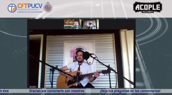 Pichihuentru presentó canciones de su nuevo trabajo musical y conversó con CFT PUCV sobre su faceta emprendedora