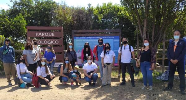 Estudiantes de TNS en Turismo y Hotelería visitan Humedal de Concón para promover el turismo local
